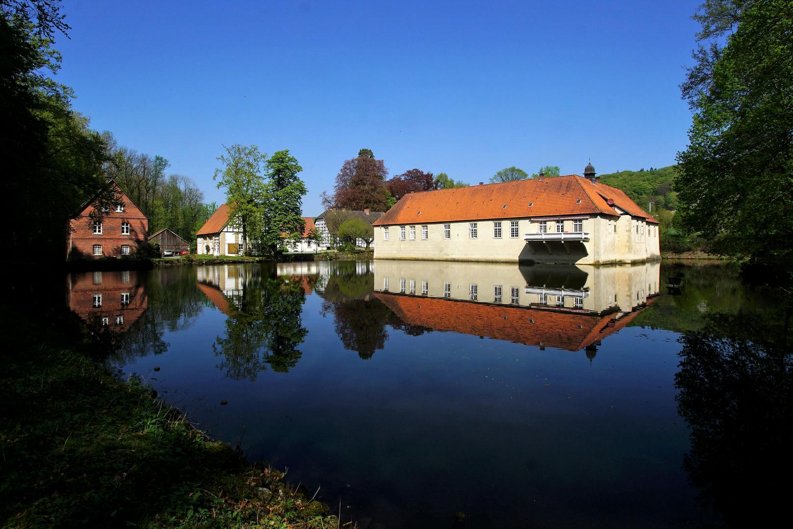 Wasserschloss Haus Marck in Tecklenburg Foto & Bild