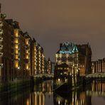 Wasserschloss in der Speicherstadt von Hamburg