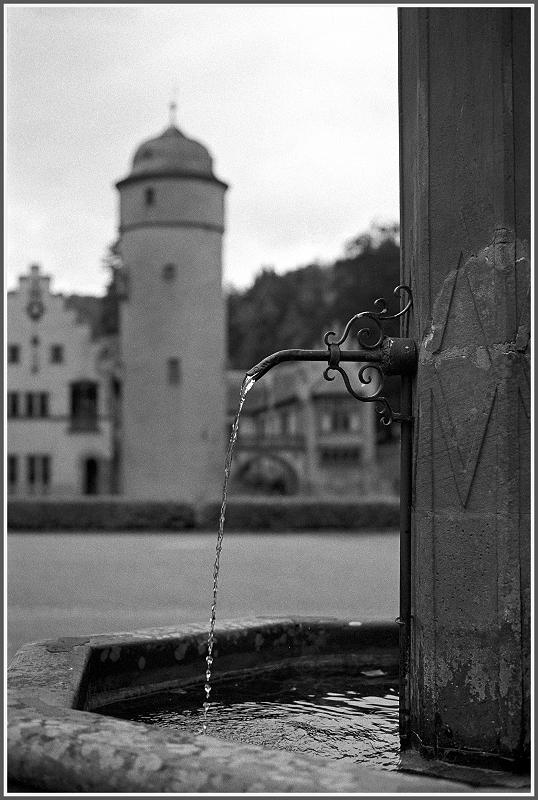 Wasserschloss Mespelbrunn - Brunnenblick