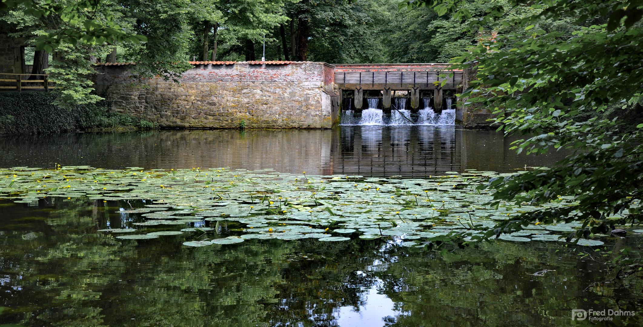 Wasserschloss Vischering, Staumauer