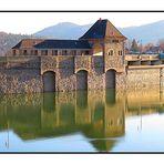 Wasserseite der Staumauer