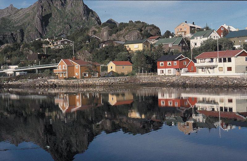 Wasserspiegelung auf den Lofoten