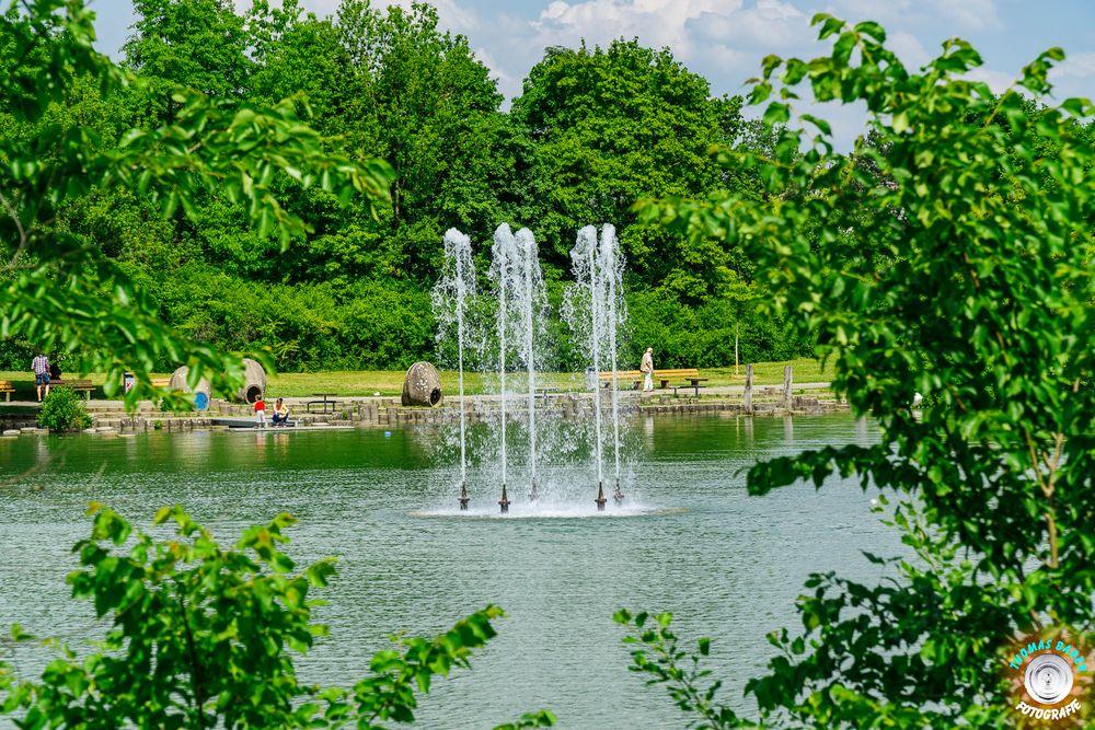 Wasserspiele Und Nackte Schönheiten