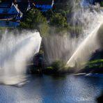 Wasserspiele am Neckar