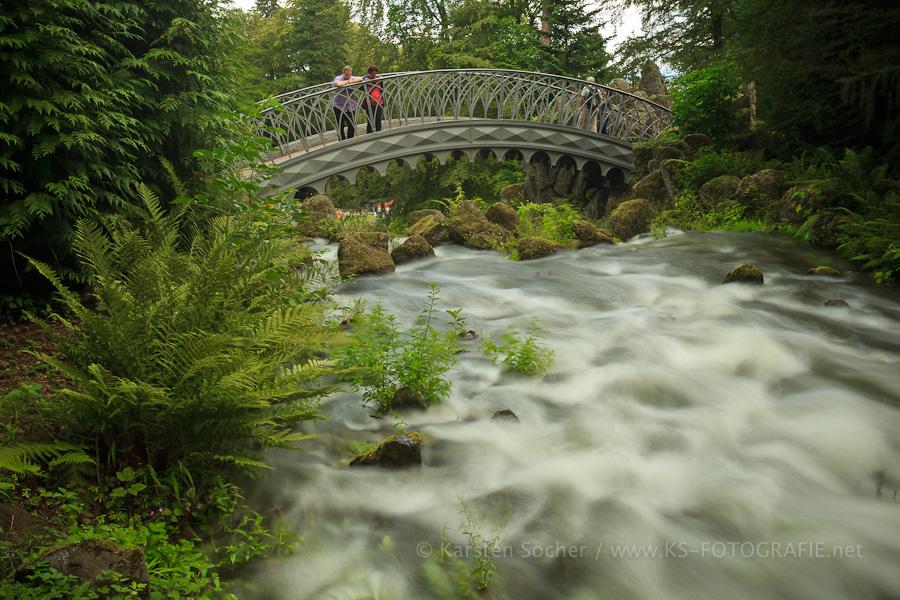 Wasserspiele an der Teufelsbrücke im Bergpark Kassel / Weltkulturerbe (4)
