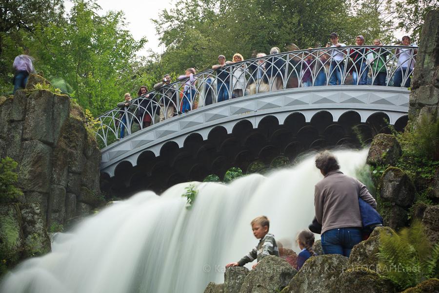 Wasserspiele an der Teufelsbrücke im Bergpark Kassel / Weltkulturerbe (5)