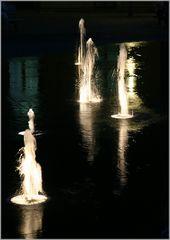 Wasserspiele bei Nacht...