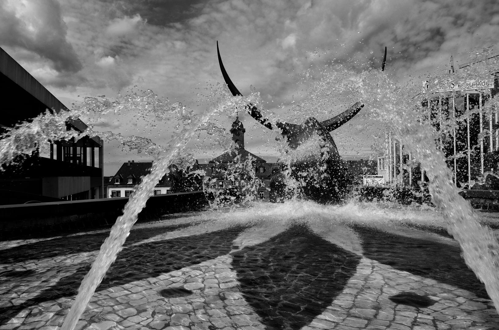 Wasserspiele in PS, Schlossbrunnen