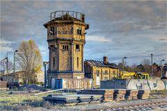 Wasserturm auf dem Bahngelände von Bernburg