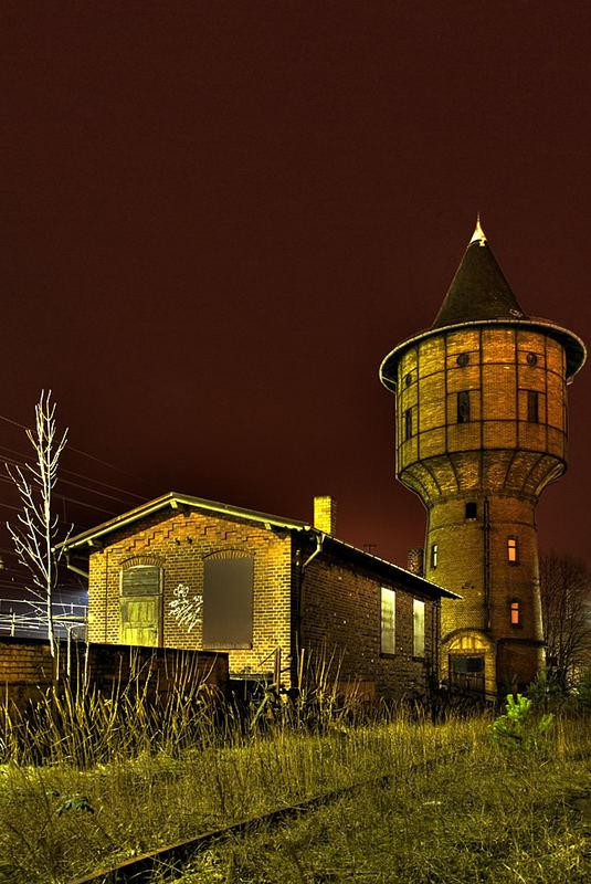Wasserturm Bahnhof Ruhland/OL (2)