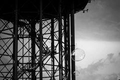 Wasserturm mit Seifenblase