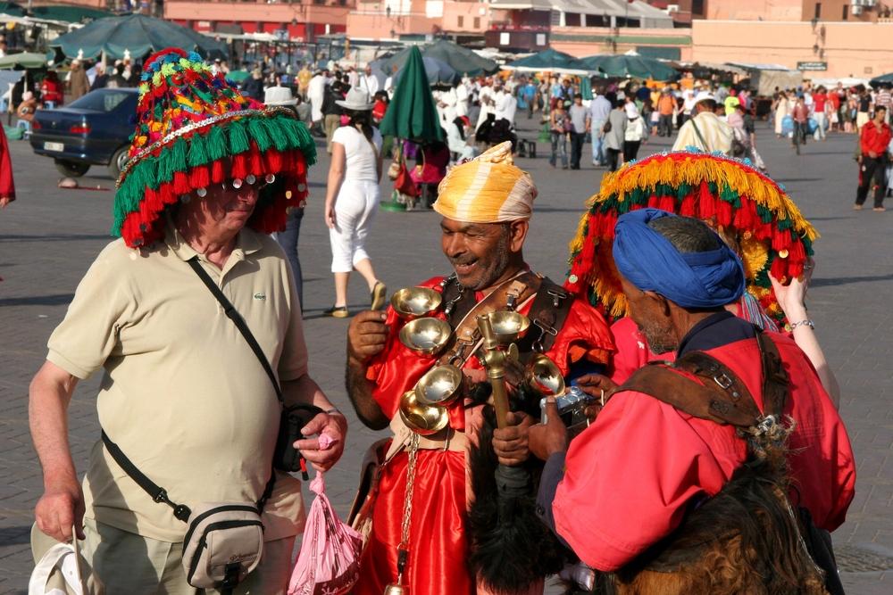 Wasserverkäufer in Marrakech