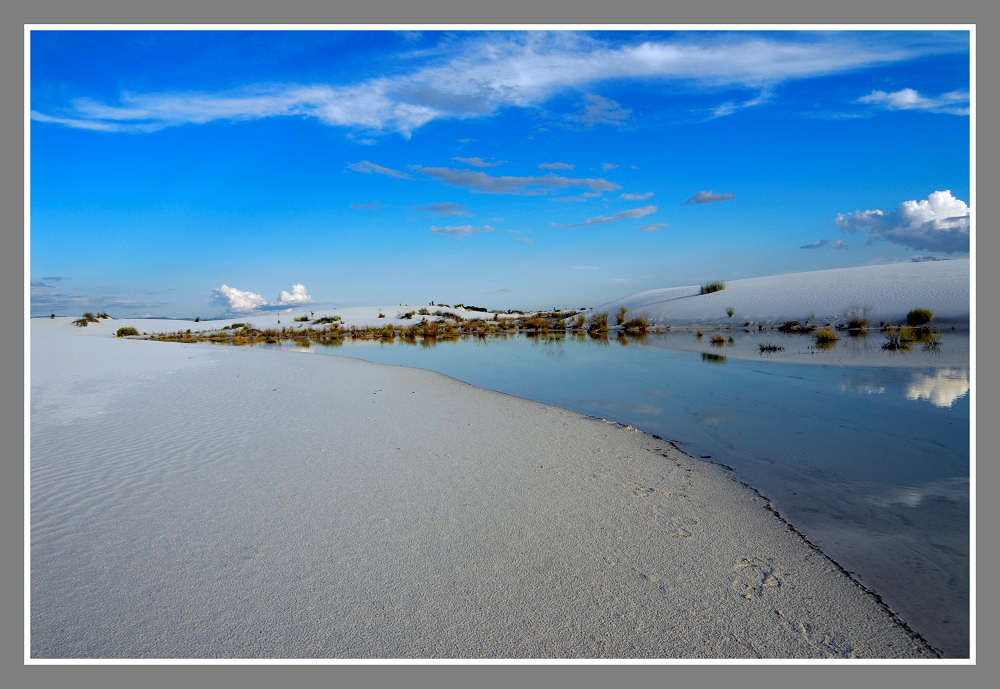 Water in White Sands