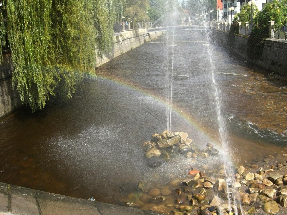 Water Rainbow in Kudowa Zdroj-Poland