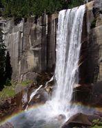 Waterfalls & Rainbow - Yosemite