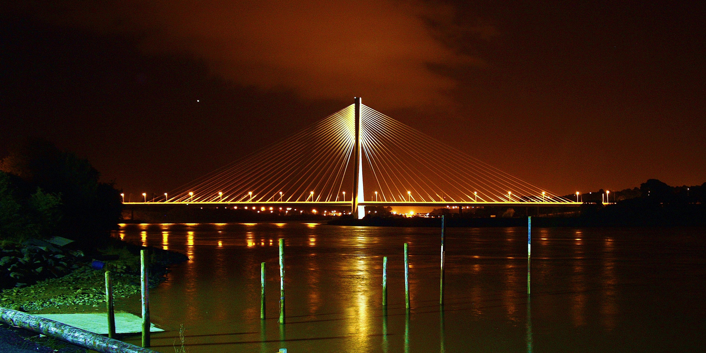Waterford Bridge at night