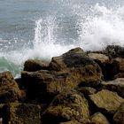 Wave in rocks