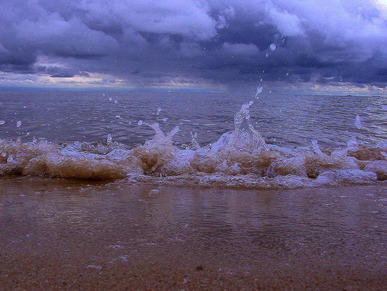 ...waves...