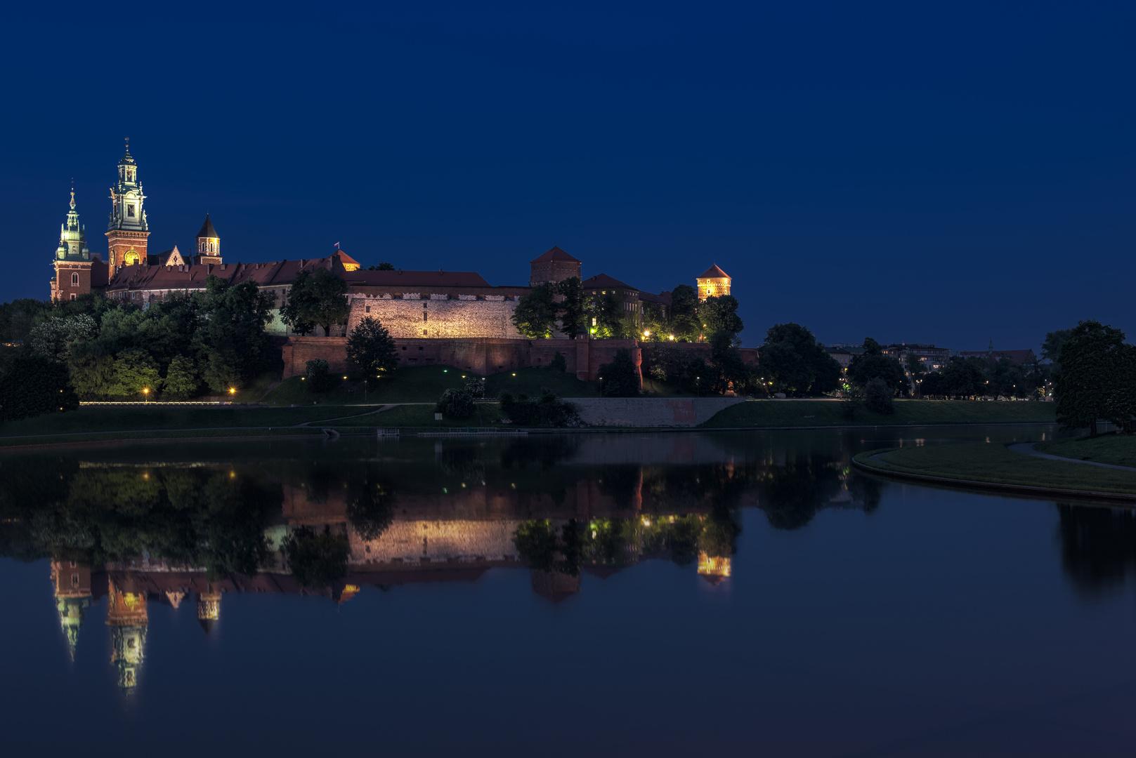 Wawel bei Nacht