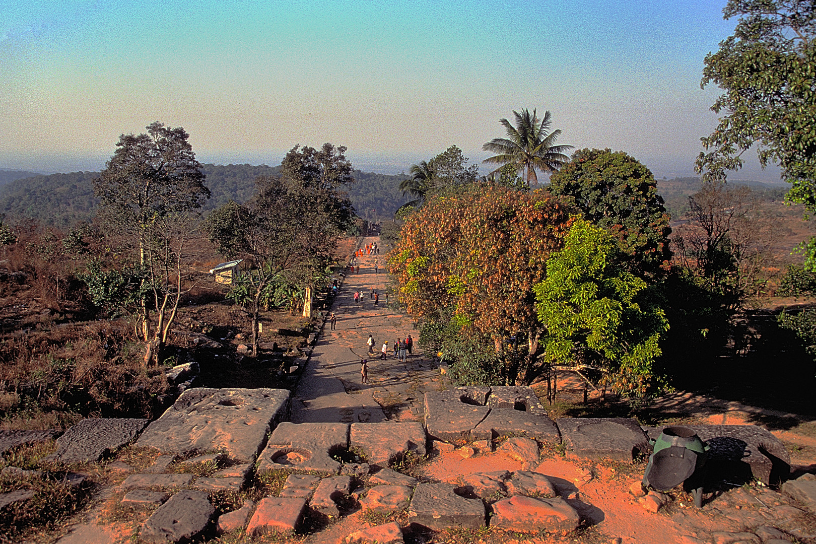 Way back to the first level of Prasat Preah Vihear