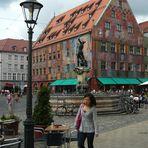 Weberhaus und Merkurbrunnen