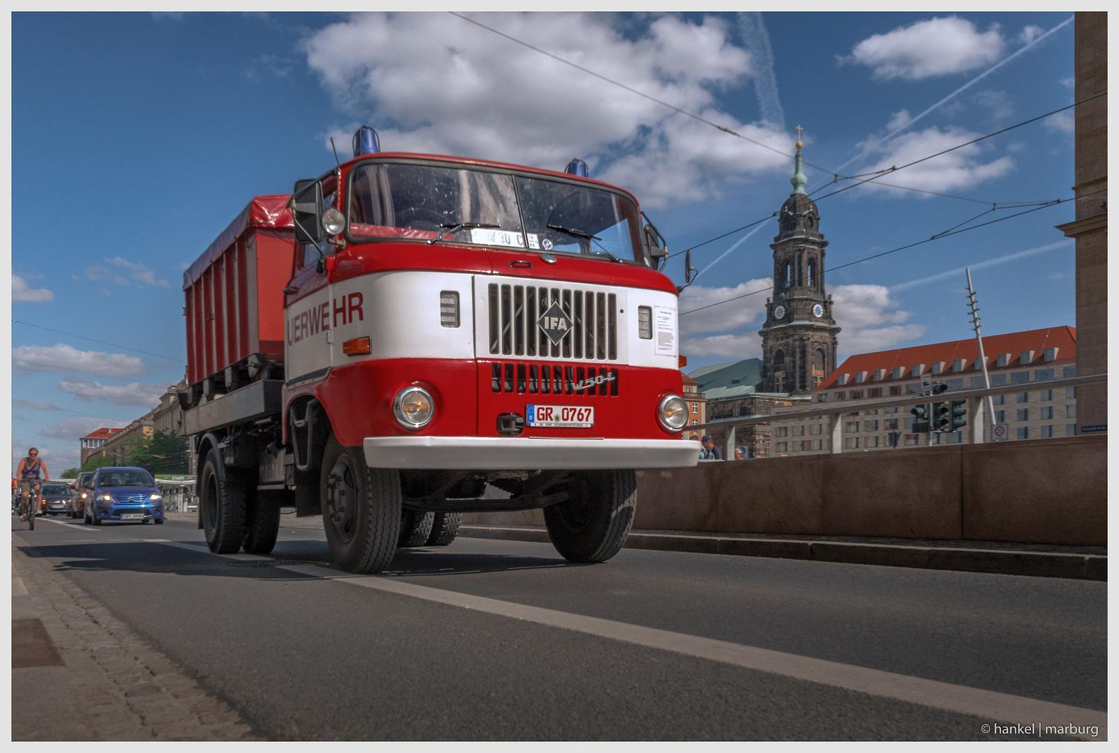 Wechselladerfahrzeug der Feuerwehr Görlitz
