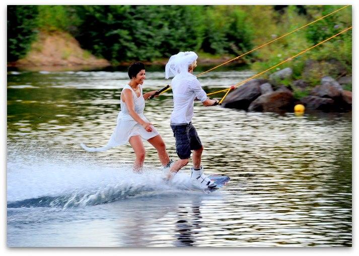 Wedding Lake Wakeboarding