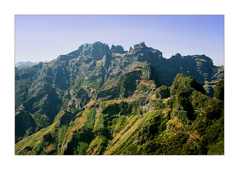 Weg vom Pico Ariero zum Pico Ruivo