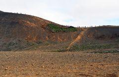 Weg zum Blick auf den Vulkanausbruch am Fagradalsfjall