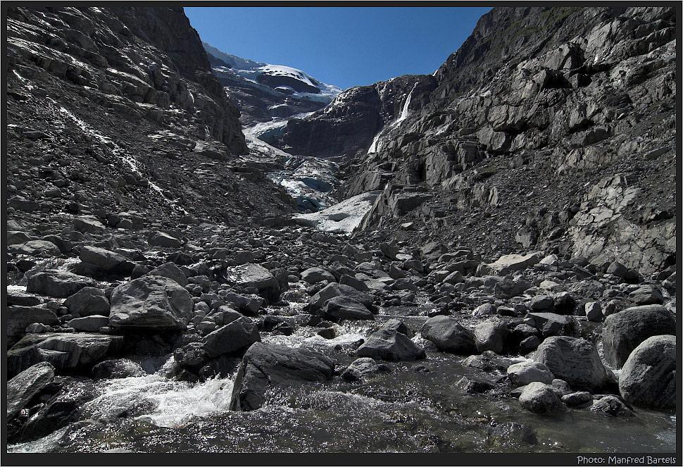 Weg zum Gletscher...