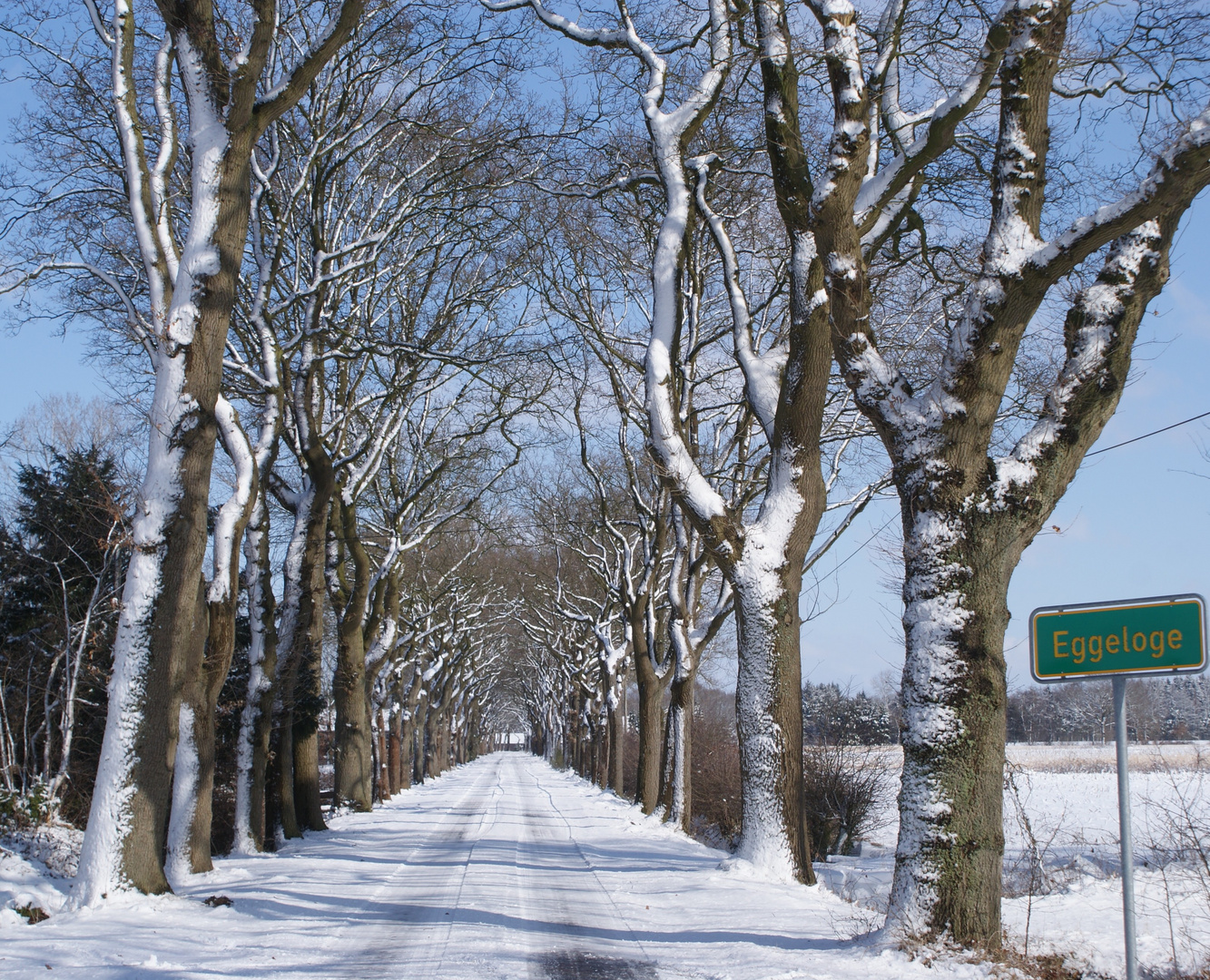 Wegbeschreibung: Immer geradeaus, bis zur Gabelung  links, dann kommt man ins Dorf.