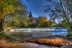 Wehrkirche Katzwang im Herbstkleid HDR