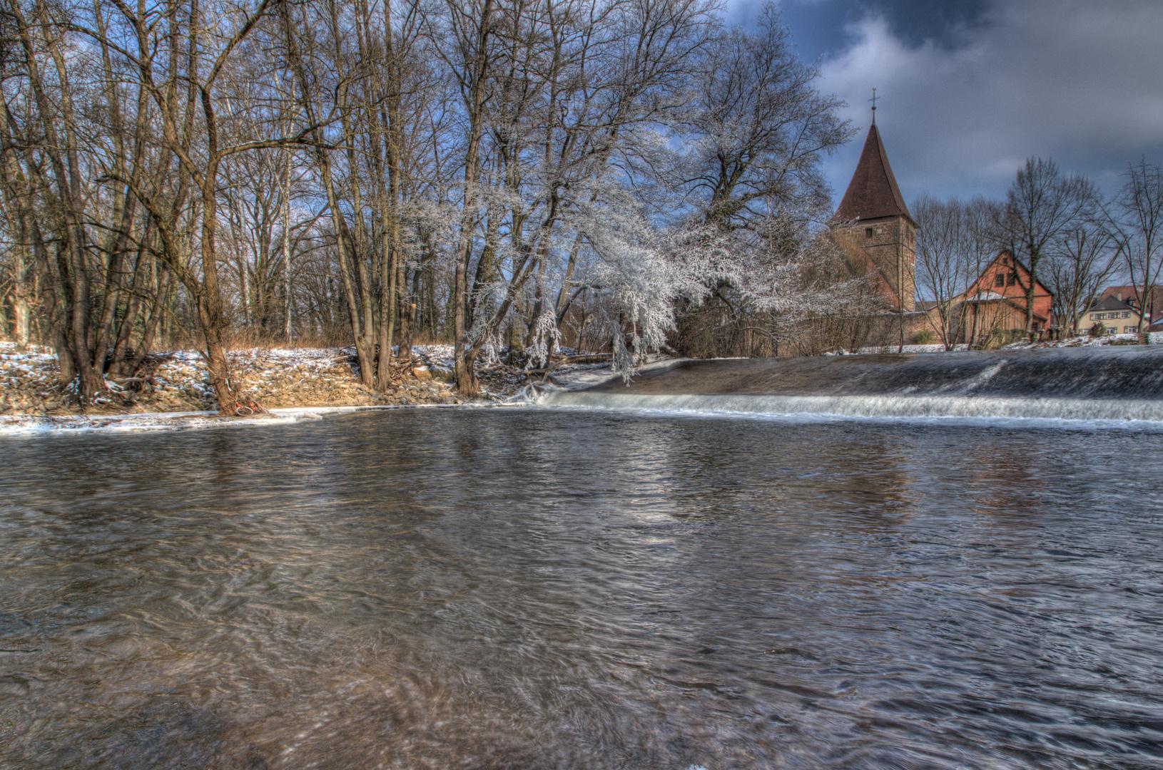 Wehrkirche Katzwang Winterimpressionen 2012 (15) HDR
