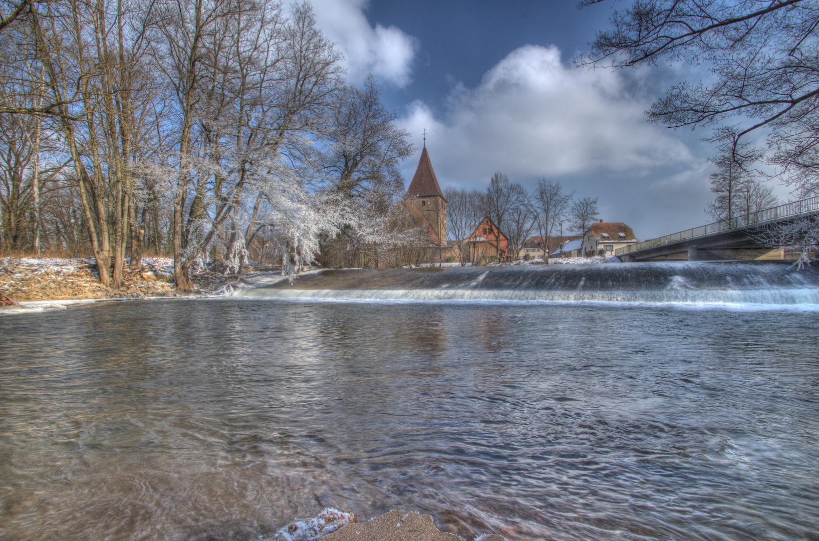 Wehrkirche Katzwang Winterimpressionen 2012 (17) HDR