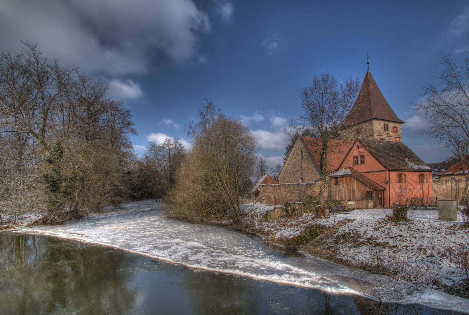 Wehrkirche Katzwang Winterimpressionen 2012 (2)