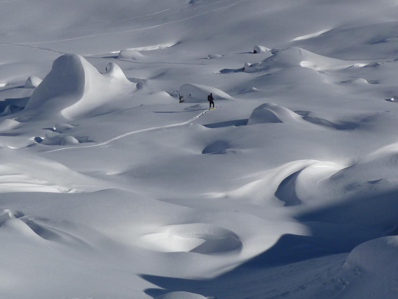 Weiche Felsformationen im Winter