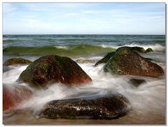 Weichgespülte Ostseewellen