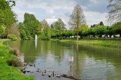 Weiher im Ludwig-Rehbock-Park / Leverkusen-Opladen ...