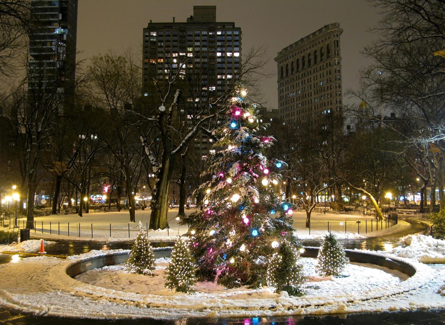 Weihnachten 2008 im Madison Square Park...
