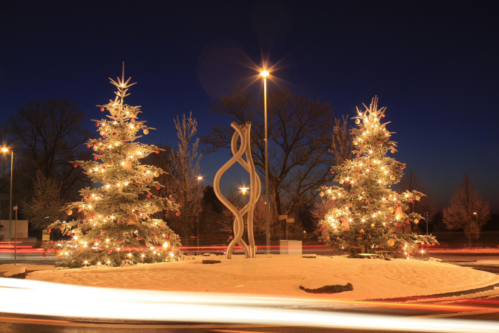Weihnachten im Kreisverkehr