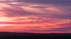 Weihnachten in warmen Farben - Sonnenuntergang an den Weihnachtsfeiertagen