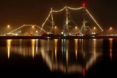 Weihnachtliche Stimmung im Tirpitzhafen
