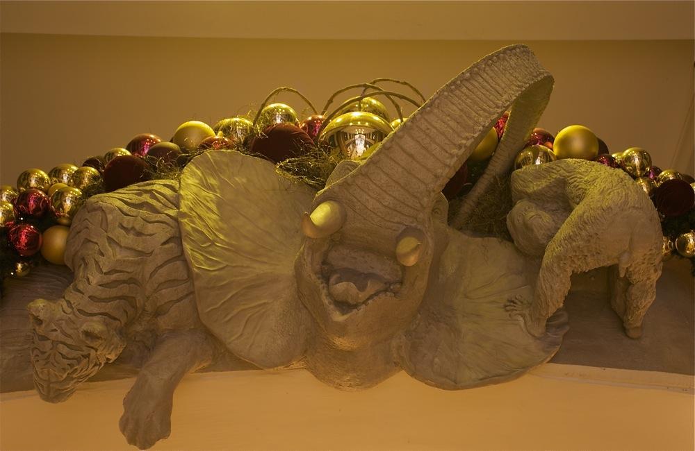 Weihnachtlicher Türbogen