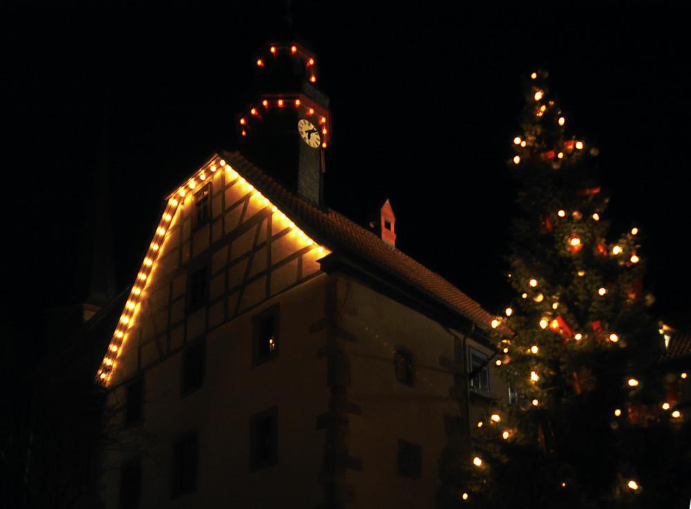 Weihnachtliches Motiv in Schlitz