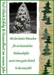 Weihnachts und Neujahr Botschaft