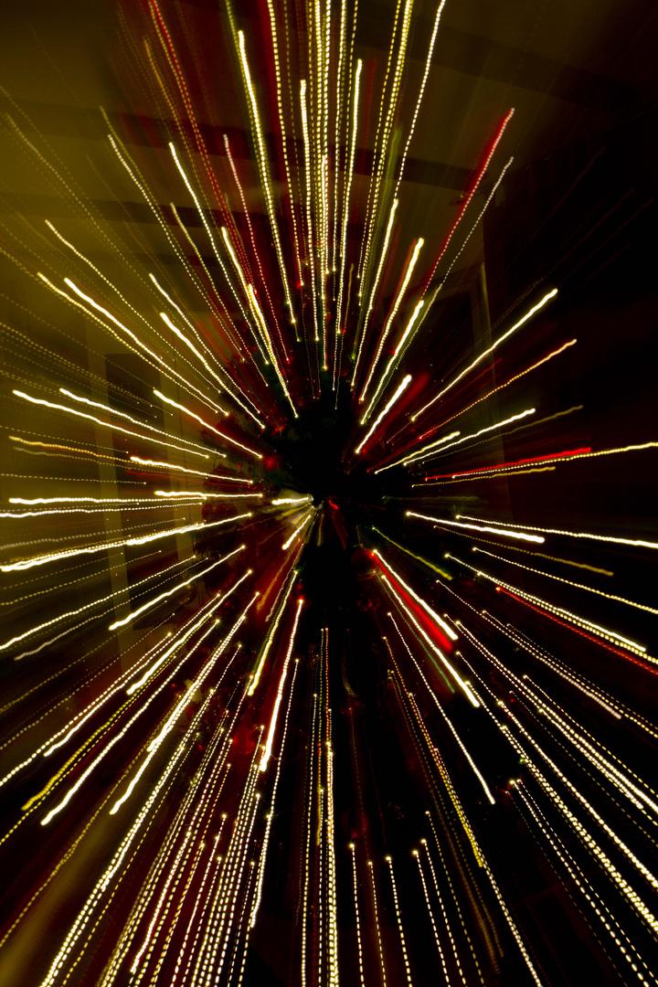 Weihnachtsbaum als Lichter Feuerwerk