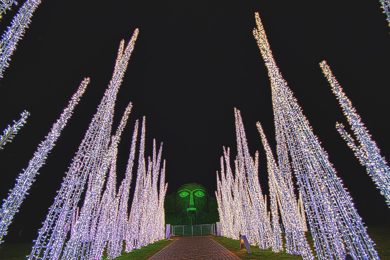 Weihnachtsbeleuchtung 2011 der Swarovski Kristallwelten 2