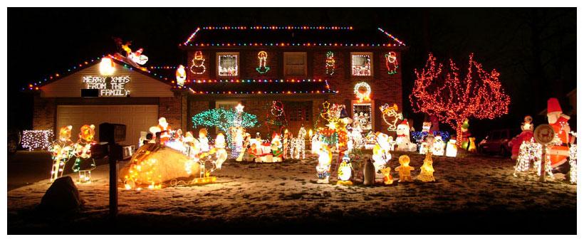 Amerikanische Weihnachtsbeleuchtung.Weihnachtsbeleuchtung In Amerika Foto Bild Techniken