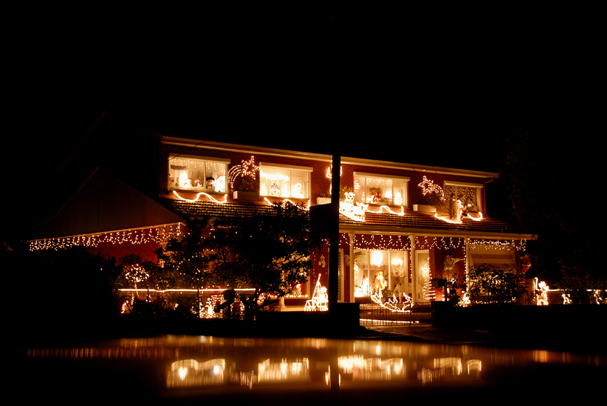 weihnachtsbeleuchtung in australien foto bild. Black Bedroom Furniture Sets. Home Design Ideas