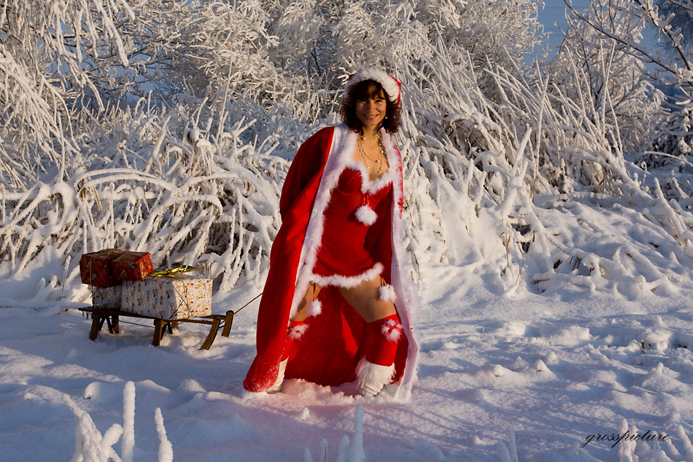 Weihnachtsfrau Foto & Bild | modelle stellen sich vor